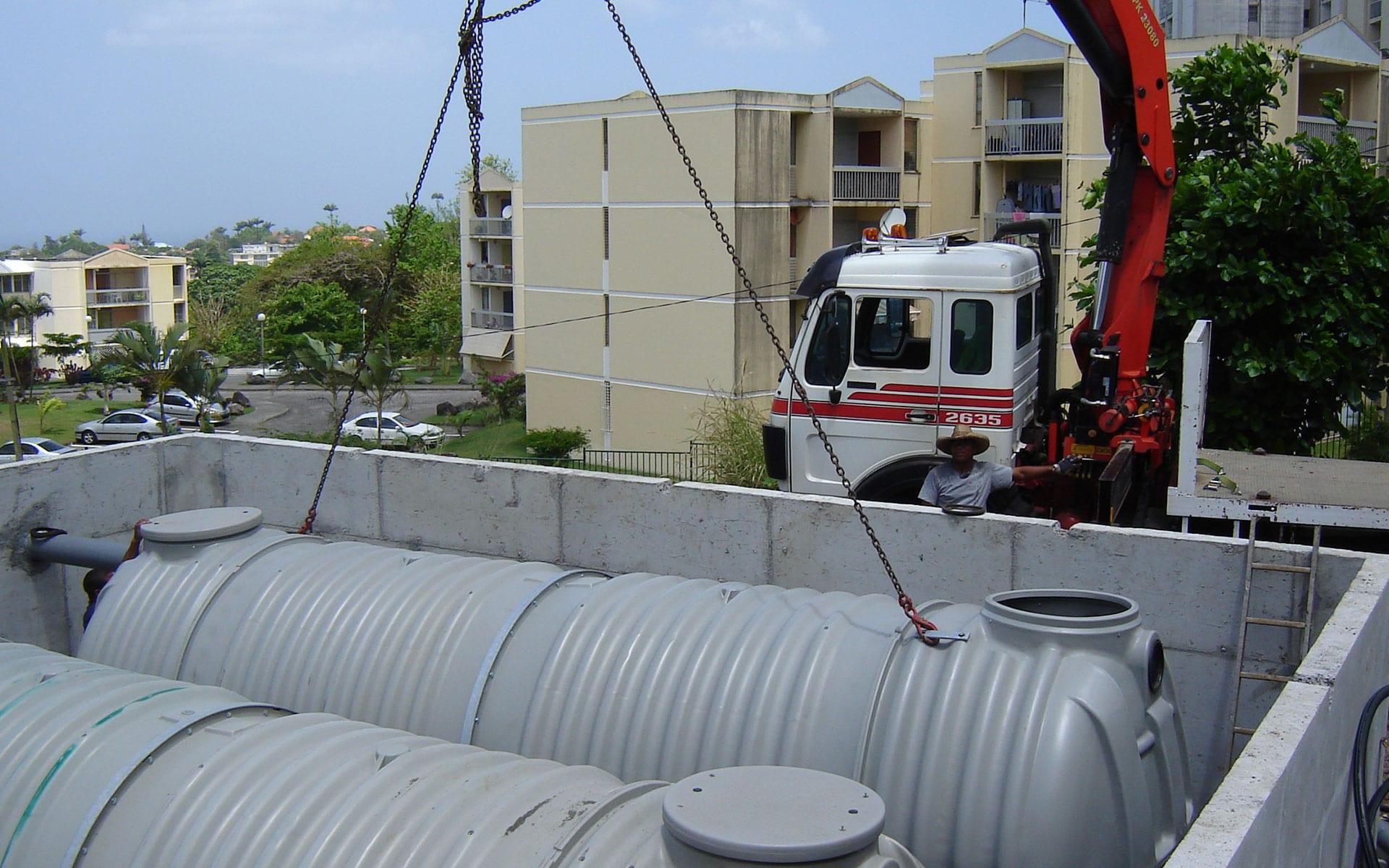 récupération de l'eau de pluie avec MBE Antilles Guyane