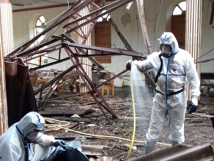 Nettoyage église de Basse Pointe