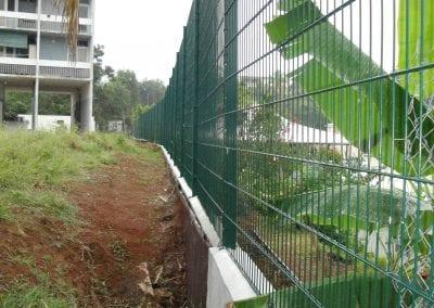 Construction gros oeuvre clôture renforcée CFPPA de Trinité