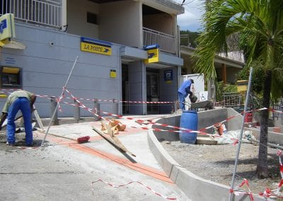 La Poste du Marin Construction devanture parking